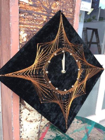 画像1: 1970'S ワイヤーアート WIRE ART WIRE CRAFT フォークアート ウォールクロック クラフトクロック ミッドセンチュリーモダン 壁掛け時計 アンティーク ビンテージ