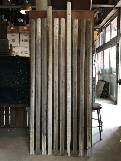 画像1: アンティーク フレーム製作に 廃材 古材 チェアレール ホワイト シャビー アメリカ old barn wood ビンテージ