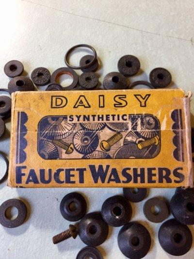 画像1: 1920'S  30'S    SCHACHT RUBBER MFG.CO. DAISY FAUCET WASHERS ゴムワッシャー 紙箱 アドバタイジング アンティーク ビンテージ