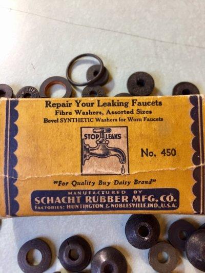 画像2: 1920'S  30'S    SCHACHT RUBBER MFG.CO. DAISY FAUCET WASHERS ゴムワッシャー 紙箱 アドバタイジング アンティーク ビンテージ
