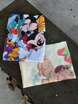 60'S 70'S MICKY ミッキーマウス ピローケース セット 枕カバー DISNEY POUND PUPPIES ファブリック 生地 アンティーク ビンテージ
