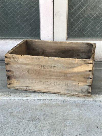 画像1: ウッドボックス GOOD LUCK MARGARINE 木箱 ストレージボックス アンティーク ビンテージ