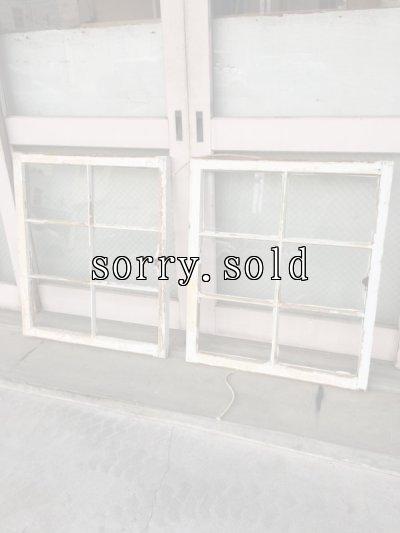 画像1: shabby chic   シャビーシック   まど   木枠ガラス窓   6分割   木製   ホワイト   アンティーク   ビンテージ
