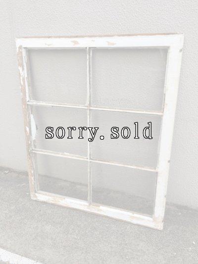 画像2: shabby chic   シャビーシック   まど   木枠ガラス窓   6分割   木製   ホワイト   アンティーク   ビンテージ