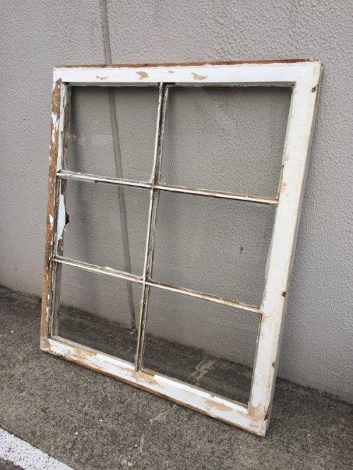other photographs.1: shabby chic   シャビーシック   まど   木枠ガラス窓   6分割   木製   ホワイト   アンティーク   ビンテージ