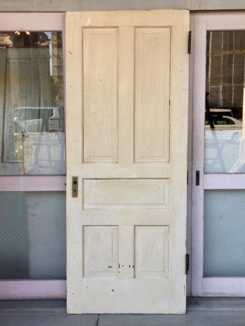 other photographs.1: 木製ドア 1910'S EASTLAKE ホワイト×ブラウン 蝶番付き ドアプレート付き ラッチ付き アンティーク ビンテージ