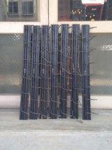 Gates 8連フック 壁掛け ウォールハンガーラック ウッド×アイアン ブラック アンティーク ビンテージ