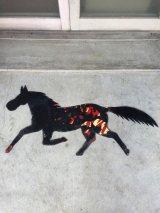 メタルアート coca-cola コカコーラ看板リメイク フォークアート スカルプチャー モダンアート ホース 馬 壁面アート ディスプレイ メタル ハンドメイド アンティーク ビンテージ