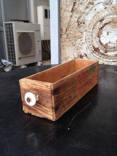 画像2: 1940'S 50'S CHEESE CRATE BOX 木製ドロワー チーズクレート ウッドボックス 取っ手付き アンティーク ビンテージ