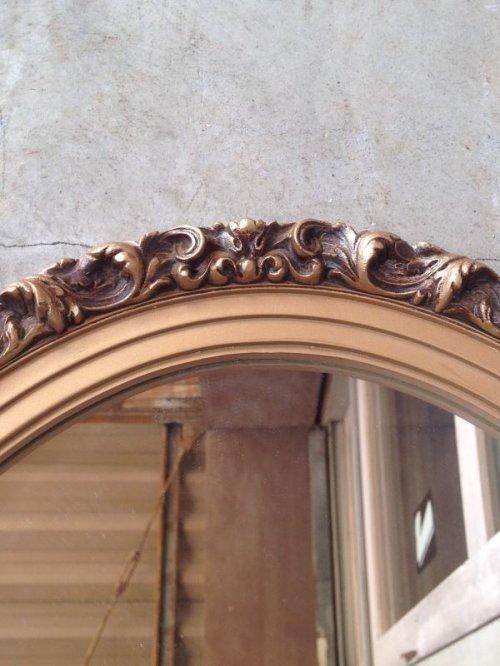 other photographs.2: ウッドフレームミラー ビクトリアン 装飾 鏡 ミラー オーバル 楕円形 アンティーク ビンテージ