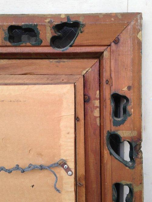 other photographs.2: ウッドフレームミラー 大型 ビクトリアン 装飾 鏡 ミラー ブリティッシュグリーン アンティーク ビンテージ
