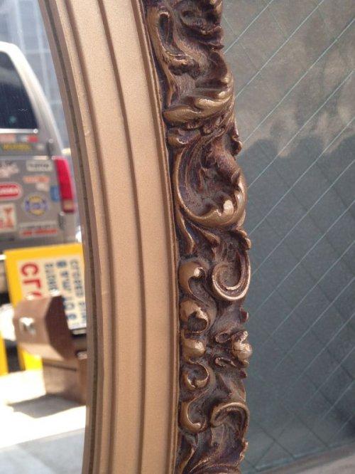 other photographs.1: ウッドフレームミラー ビクトリアン 装飾 鏡 ミラー オーバル 楕円形 アンティーク ビンテージ