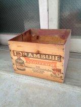 ウッドボックス オールドウッドクレート ドランブイ DRAMBUIE Prince Charles Edward's Liqueur チャールズ エドワード 木箱 ストレージボックス アンティーク ビンテージ