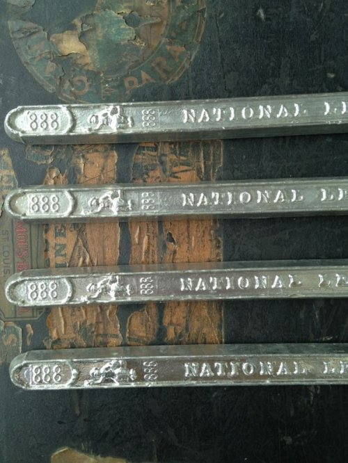 other photographs.2: 1910'S 20'S 鉛の延べ棒 NATIONAL LEAD CO. ペーパーウェイト 文鎮 アンティーク ビンテージ