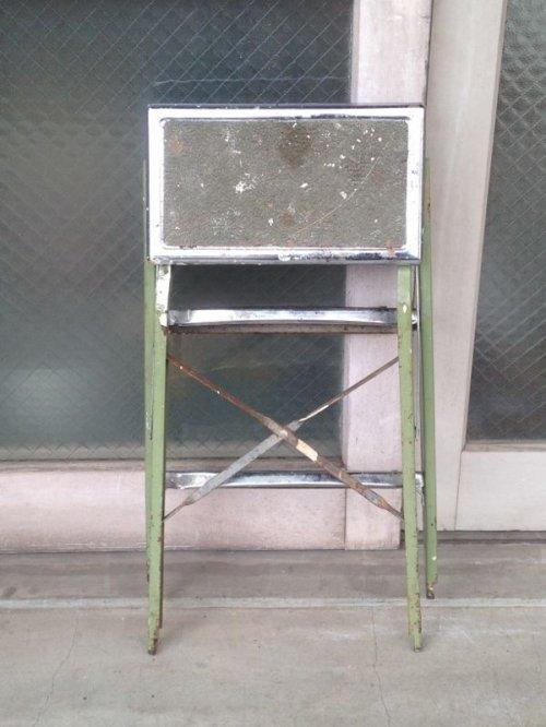 other photographs.1: スチールステップラダー はしご 脚立 小型 3段 クロームメッキ アンティーク ビンテージ