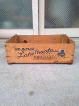 ウッドボックス Mountain Lake Couney Bartletts 木箱 ストレージボックス アンティーク ビンテージ