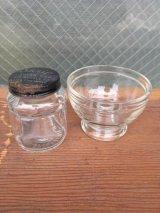 ガラスボトル 2個セット インクボトル 蓋付き カップ 器 Skrip スモールコンテナ代わりに アドバタイジング アンティーク ビンテージ