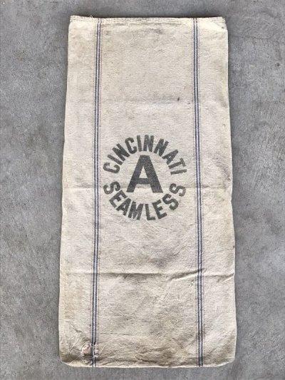画像3: 1930'S 40'S シードサック コットンサック ダッフルバッグ ステンシル CINCINNATI SEAMLESS 穀物袋 アンティーク ビンテージ