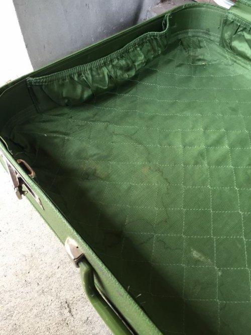 other photographs.3: トランク 小型 スーツケース グリーン 店舗什器に アンティーク ビンテージ