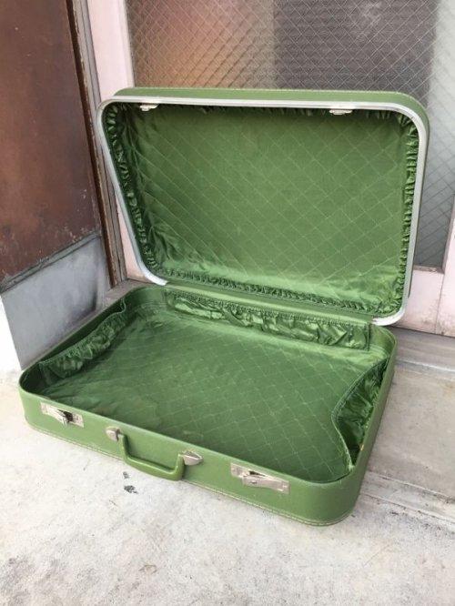 other photographs.1: トランク 小型 スーツケース グリーン 店舗什器に アンティーク ビンテージ