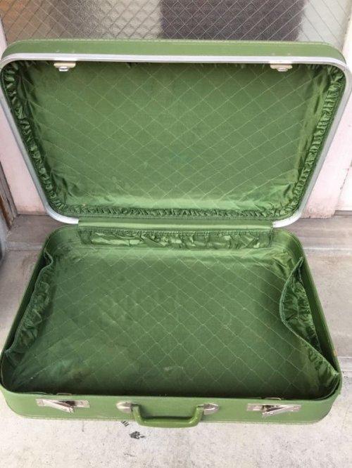 other photographs.2: トランク 小型 スーツケース グリーン 店舗什器に アンティーク ビンテージ