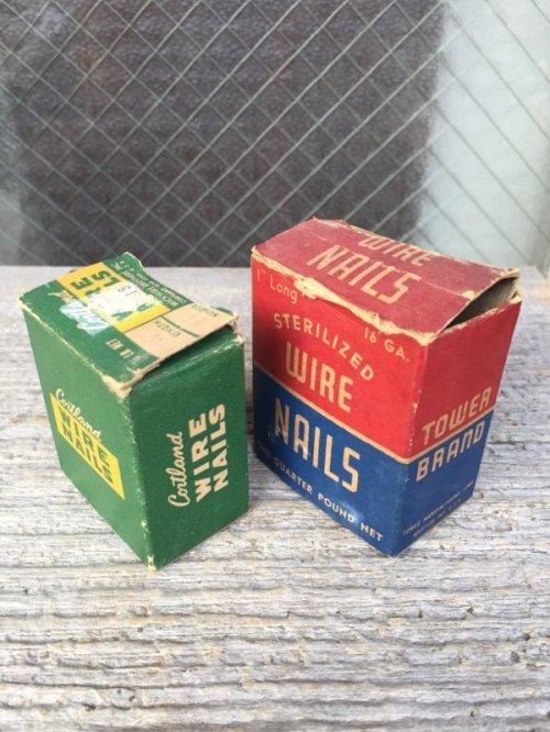 other photographs.1: 1930'S 40'S 50'S ネイル ステイプル 紙箱 釘 5箱セット アドバタイジング アンティーク ビンテージ