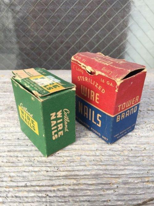 other photographs.2: 1930'S 40'S 50'S ネイル ステイプル 紙箱 釘 5箱セット アドバタイジング アンティーク ビンテージ