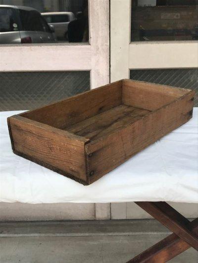画像1: ウッドボックス 木箱 ストレージボックス アンティーク ビンテージ