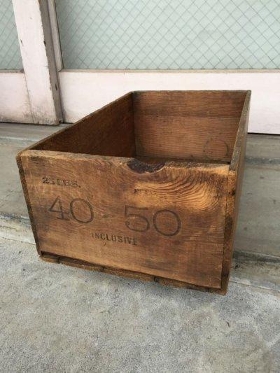 画像1: ウッドボックス 40-50 木箱 ストレージボックス アンティーク ビンテージ