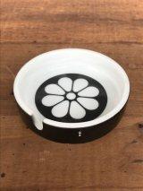 大正ロマン 昭和レトロ 灰皿 アッシュトレイ 陶器 花柄 MADE IN JAPAN アンティーク ビンテージ