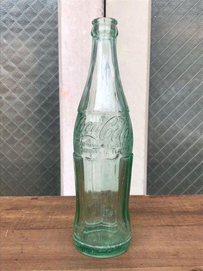 画像1: エンボスボトル SODA BOTTLE ソーダボトル ポップボトル ガラス瓶 コカコーラ COKE 色つきガラス アンティーク ビンテージ