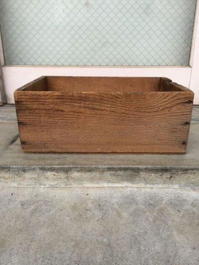 画像2: ウッドボックス 40-50 木箱 ストレージボックス アンティーク ビンテージ