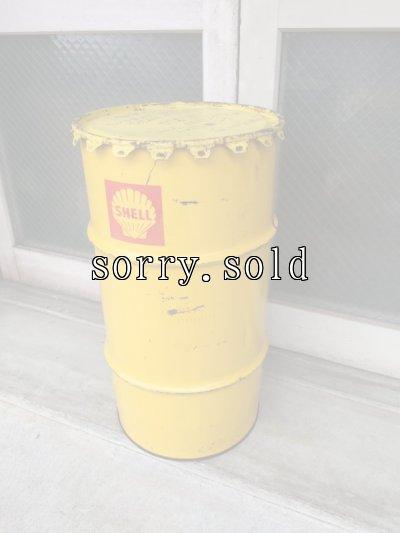 画像1: 1950'S 60'S オイル缶 シェル SHELL 中型 ドラム缶 トラッシュカン ダストボックス アドバタイジング アンティーク ビンテージ