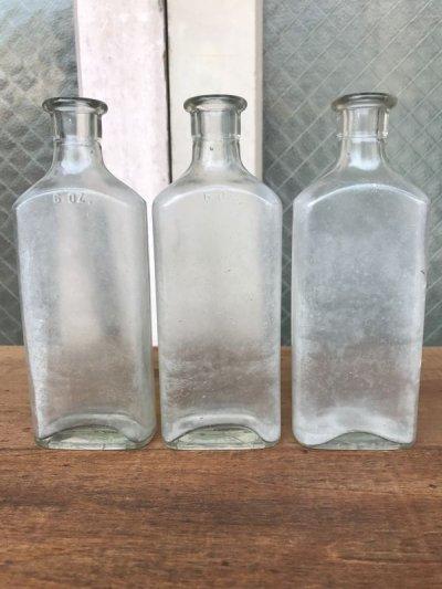 画像5: 19世紀 1860'S 70'S 80'S メディスンボトル 瓶 クリアガラス アンティーク ビンテージ