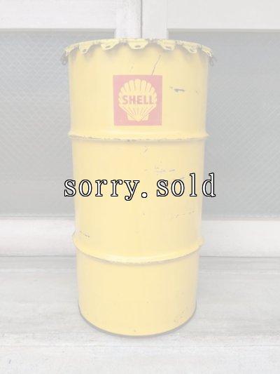 画像2: 1950'S 60'S オイル缶 シェル SHELL 中型 ドラム缶 トラッシュカン ダストボックス アドバタイジング アンティーク ビンテージ