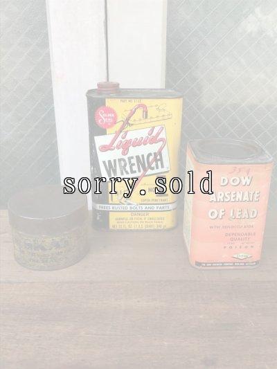 画像1: 1910'S 20'S 30'S ティン缶 3個セット ポイズン缶 POISON SKULL ドクロ スカル物 liquid wrench アドバタイジング アンティーク ビンテージ