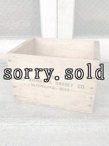ウッドボックス THE WARNER & SWASEY CO. 木箱 ストレージボックス アンティーク ビンテージ