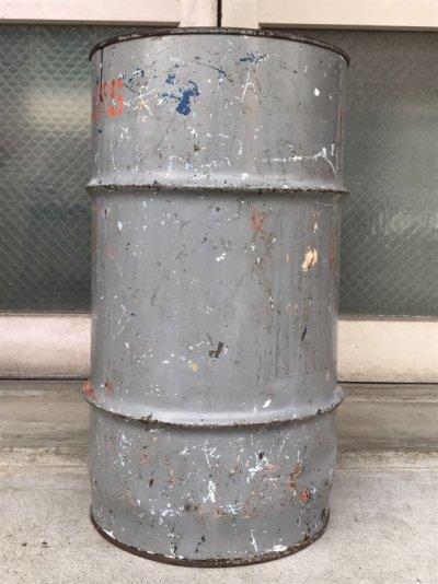 画像2: オイル缶 ステンシル 中型 ドラム缶 トラッシュカン ダストボックス シャビーシック アンティーク ビンテージ
