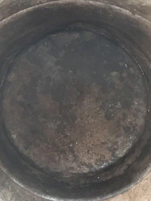 other photographs.3: オイル缶 ステンシル 中型 ドラム缶 トラッシュカン ダストボックス シャビーシック アンティーク ビンテージ
