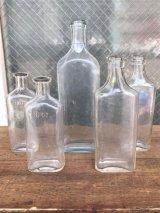 19世紀 1860'S 70'S 80'S メディスンボトル 5本セット 瓶 クリアガラス アンティーク ビンテージ