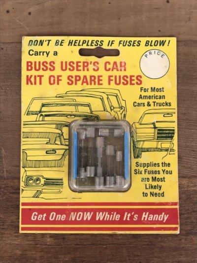 画像1: 60'S 70'S ヒューズ入れ BUSS FUSES デッドストック ビンテージカー オールドモーターサイクルのヒューズの携行に アンティーク ビンテージ