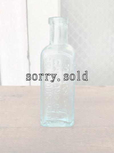 画像2: 19世紀 1860'S 70'S 80'S メディスンボトル ガラスボトル 4本セット 瓶 クリアガラス 色付きガラス アンティーク ビンテージ