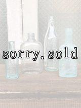 19世紀 1860'S 70'S 80'S メディスンボトル ガラスボトル 4本セット 瓶 クリアガラス 色付きガラス アンティーク ビンテージ