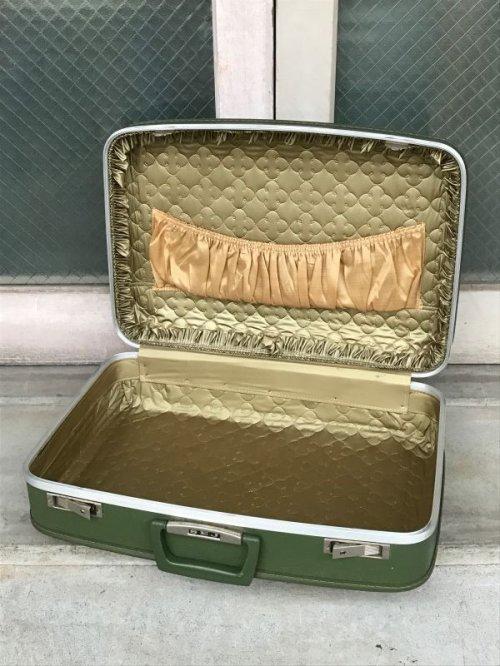 other photographs.1: 70'S トランク 小型 スーツケース 深緑 店舗什器に アンティーク ビンテージ