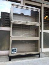 ブックシェルフ 50'S 60'S Steel Case ディスプレイケース ショーケース アイアン メタル インダストリアル メタルドロワー 3段 アンティーク ビンテージ