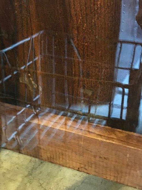 other photographs.3: 1880'S 90'S トランザムウインドー 木枠ガラス窓  茶×ターコイズ ショーウインドー ショーケース ウインドー アンティーク ビンテージ
