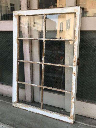 画像2: shabby chic シャビーシック 木枠ガラス 窓  8分割 木製 ホワイト アンティーク ビンテージ