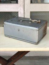 メタルティンボックス ミニ金庫 ポータブル金庫 鍵付き インダストリアル アンティーク ビンテージ