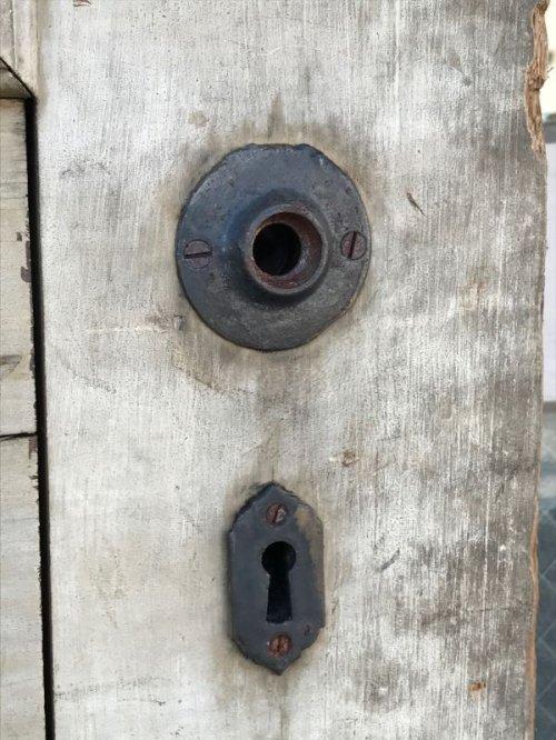 other photographs.1: 1920'S 超大型 木製ドア ドアトリム 装飾 重厚 シャビーホワイト アンティーク ビンテージ