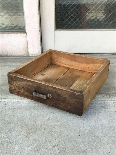 画像2: ウッドボックス ウッドドロワー 木箱 取手付き ストレージボックス アンティーク ビンテージ
